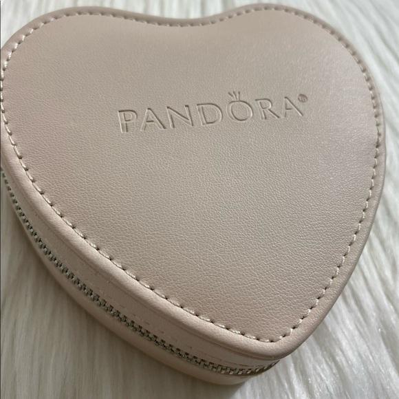 PANDORA PINK HEART BOX BRACELET STORAGE CASE
